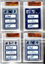 J.Heyward/Fowler/Jennings 2008 Triple Signatures AUTO Printing Plate 1/1 (4 Set)