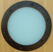 PORTHOLE FOR DOORS STAINLESS STEEL OLD COPPER phi 323 mm flat