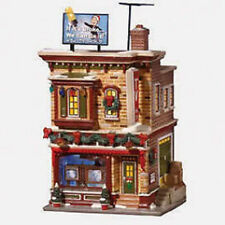 Department 56 Snow Village Buds TV and Hi Fi Village