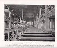 1897 VICTORIAN PRINT ~ St JOHN'S CATHEDRAL ANTIGUA ~ PLUS DESCRIPTIVE TEXT