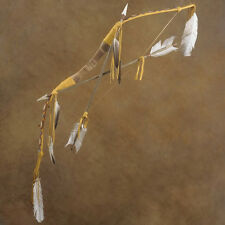 Traditional Indian Style Bow And Arrows Beaded Buckskin Weapon