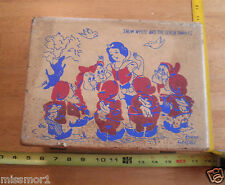 """Snow White and the Seven Dwarfs Neevel childrens luggage trunk 11x8x4"""" dolls"""