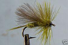 1x Mouche Sèche Sedge Olive H14/H16 mosca fliegen fly