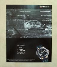 E763- Advertising Pubblicità -1995- TAG HEUER OROLOGIO SERIE 6000 CHRONOMETER