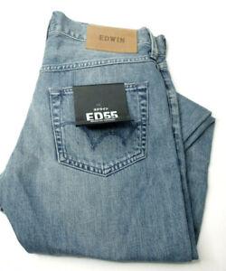 Edwin ED-55 Mens Regular Tapered Ripped Jeans, Size 30 Waist W x 32 Leg L Length
