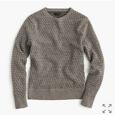 NWT J Crew Men's Lambswool Jacquard Sweater Shade of Gray Sz M E0671 Sold Out!
