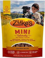 (2 Pack) Zukes Mini Treats Moist Roasted Chicken Recipe Dog Training Treats 6 oz