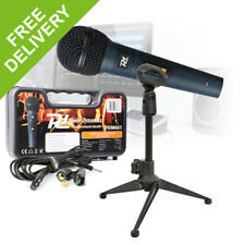 Desktop Microphone and Stand Podcast Presentation Home Studio Video Recording