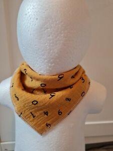 Halstuch Baby Spucktuch verstellbar Blume blau gelb Junge Mädchen neu Handmade