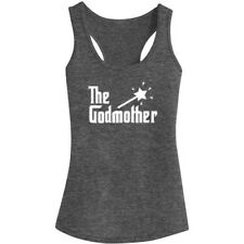 Womens Godmother Fitness Workout Racerback Tank Tops