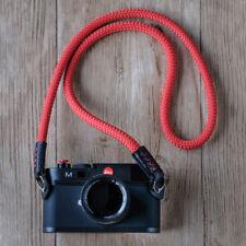 Rope Camera Strap HandMade Red (singing rock Static Rope) Lieca sony fuji FS