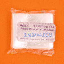 100 Pcs Stamp Sleeves Holders Professional Collection Protection 3.5cmx4cm