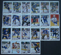 1990-91 Upper Deck UD Buffalo Sabres Team Set of 22 Hockey Cards