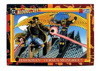 Skybox 1993 DC Bloodlines Base Card #39 Hawkman versus Mongrel!