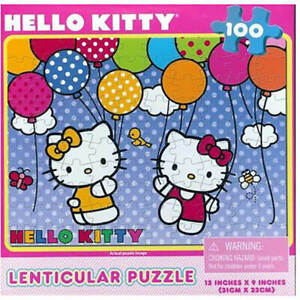 Cardinal Industries INC. Hello Kitty 100pc Lenticular Puzzle (New)
