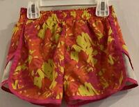 Skechers Active Girls Sz 4 Pink Yellow Orange Athletic Shorts Sport Soccer Cheer