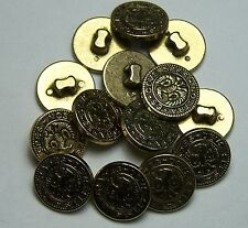 10pc  Gold Eagle design Loop Shank 15mm Shirt Cardigan button 0096