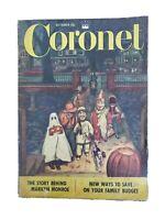 Coronet Magazine Vintage October 1952 Marilyn Monroe Article Halloween Cover