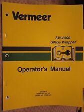 VERMEER SW-2500 SILAGE WRAPPER OPERATORS MANUAL