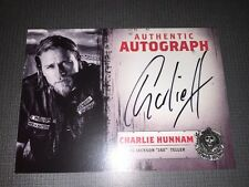 Sons Of Anarchy Authentic Autograph Card Of Charlie Hunnam As Jax Teller.