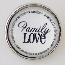 Jewelry Interchangeable Fits Ginger Snaps Family Love Snap Button Charm 18mm
