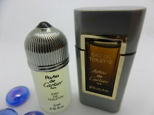 PASHA de CARTIER + SANTOS for MEN edt MINI Miniature PERFUME Fragrance SET