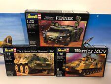 1/72 Scale Revell Kits X3 Warrior Mcv,Fennek, TPz 1 Fuchs Eloka Hummel.