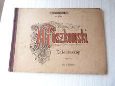 Partition ancienne KALEIDOSKOP MORITZ MOSZKOWSKI OPUS 74 de 1905 ref 454n