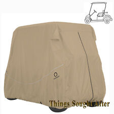 KHAKI GOLF CART STORAGE COVER 2-PERSON 60 IN ROOF E-Z-GO CLUB CAR YAMAHA Others