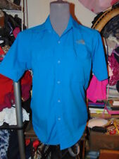 THE NORTH FACE BLUE SHIRT SMALL Button Down Top SUMMIT SERIES Blouse NICE S SML