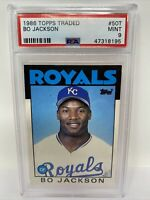 1986 Topps Traded ROOKIE BO JACKSON Kansas City Royals PSA 9 Mint #50T RC