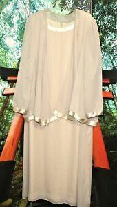 COCKTAIL CHURCH DRESS SUIT BEIGE  2X PLUS mother of bride
