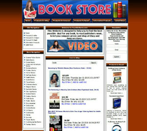 Affiliate Books Website For Sale. Adsense Amazon Store Resell Products