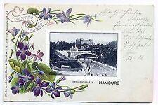 L 58 - Litho,  Duftende Grüsse aus Hamburg Helgolandallee, 1902 gl.