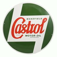 Genuine Classic Vintage Castrol Round Metal Sign (40cm Diameter) STR587