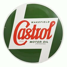 Genuine Classic Vintage Castrol Round Metal Sign (40cm Diameter )