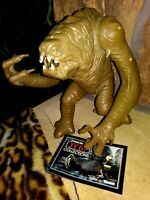 RANCOR MONSTER FIGURE, STAR WARS RETURN OF THE JEDI, KENNER NEAR MINT w/CATALOG