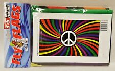 1 Rainbow Peace Multi Colored Indoor or Outdoor Flying Flag 3x5ft Banner