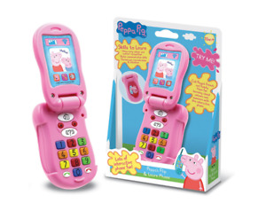 PEPPA PIG PRETEND PLAY FLIP & LEARN PINK PHONE TALKING INTERACTIVE LIGHTS UP