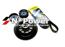 POWERBOND 20% UNDERDRIVE PULLEY KIT FORD FALCON XR6 Turbo FG Ute 5.08-11.14 4.0L