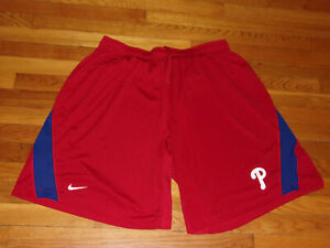 NIKE DRI-FIT PHILADELPHIA PHILLIES ATHLETIC SHORTS MENS 4XL EXCELLENT CONDITION