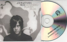JOHNATHAN RICE Extended Player 24:26 2004 UK 6-track promo test CD