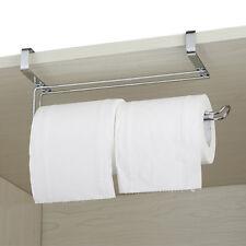 Porte-rouleau serviettes papier cuisine sous armoire acier inoxydable TOILETTE