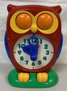 Vintage Tomy 1990 Owl Clock Learn Tell Time Educational Preschool Pre-K Toy Game