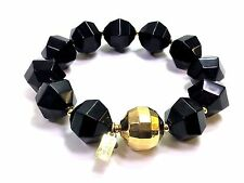 Kate Spade Cut to the Chase Bracelet NWT Perfect Black Modern Twist on Pearls!