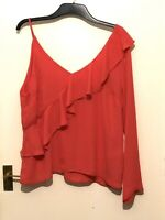 Atmosphere Frilled One Sleeve Top Pink Size 18