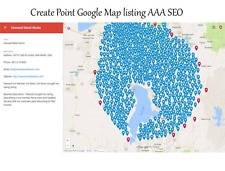 Manually create 300 Point Google Map Listing  SEO .Boost Google Place Ranking .