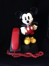 Vintage Mickey Mouse At&T Telephone Push Button Walt Disney