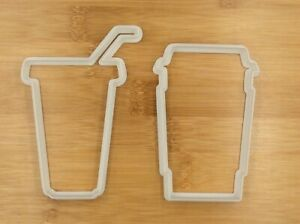 1 Set Large Drink Coffee Juice Cup Cookie Cutter Fondant Cupcake Biscuit Mould
