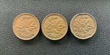 1948, 1949 &  1950  Canada 1 Cent Penny  KING GEORGE VI Lot
